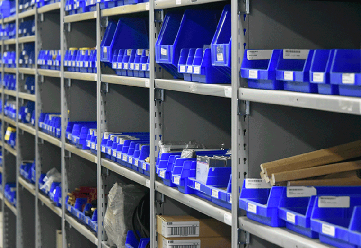 clean storeroom shelves