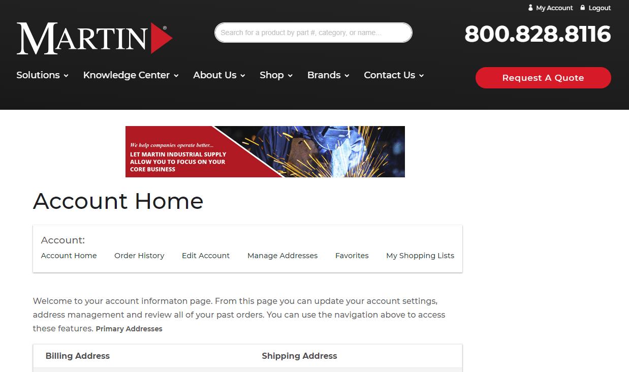 screenshot of custom website