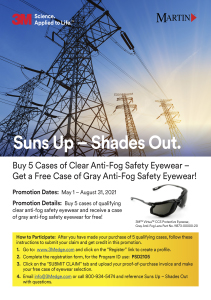 3M Suns Out - Shades Up Flyer - Martin Supply